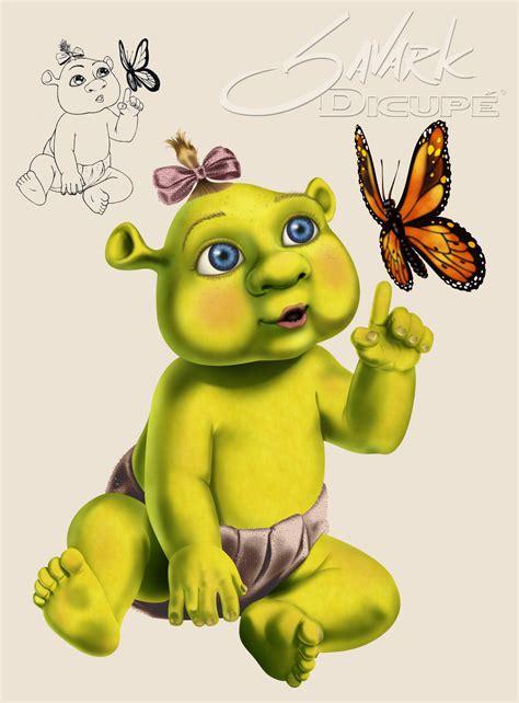 painting shrek shrek baby by savarkdicupe on deviantart