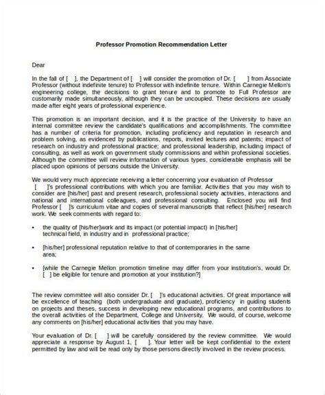 Tenure Evaluation Letter sle tenure recommendation letter from student