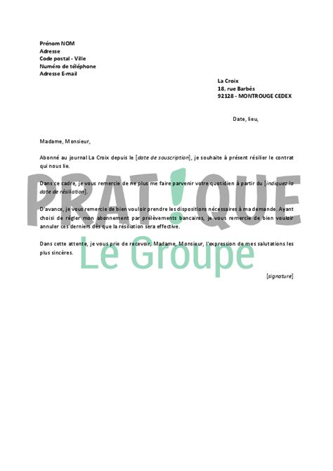 Modele Resiliation N Assurance Document modele lettre resiliation quotidien document