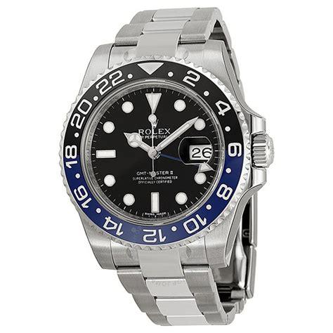 Jam Replika Rolex Gmt Master Ll All Gold Steel Black Swiss Eta 11 rolex gmt master ii black stainless steel s