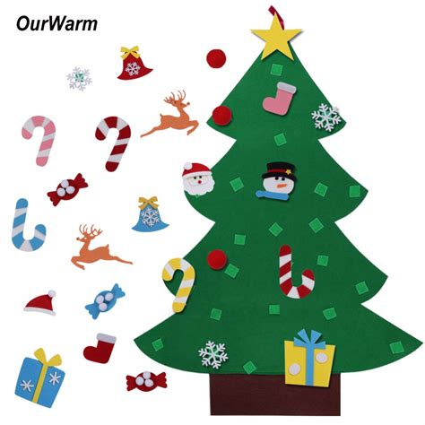 new year gifts kids diy felt christmas tree decorations