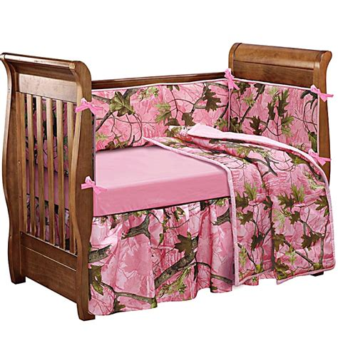 Pink Camo Crib Bedding Baby Oak Camo Baby Crib Bedding Set Camouflage