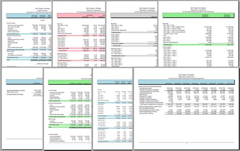Financial Reporting Templates Excel by Financial Excel Gse Bookbinder Co