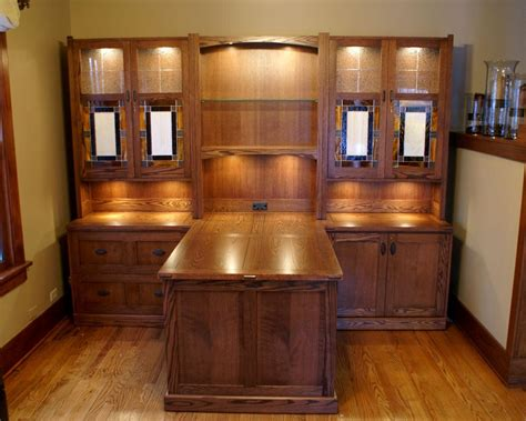 Home Office Desks For Two Made Craftsman Style Desk System By Roltgen S Woodworks Custommade