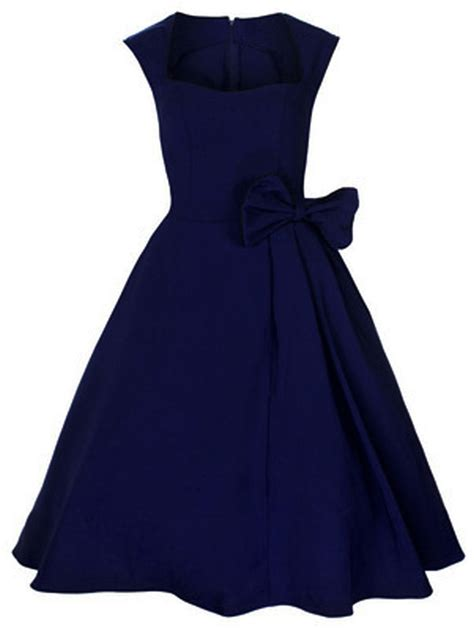 Rk52 Rockabilly Vintage Swing Work Evening Dress 40s 50s