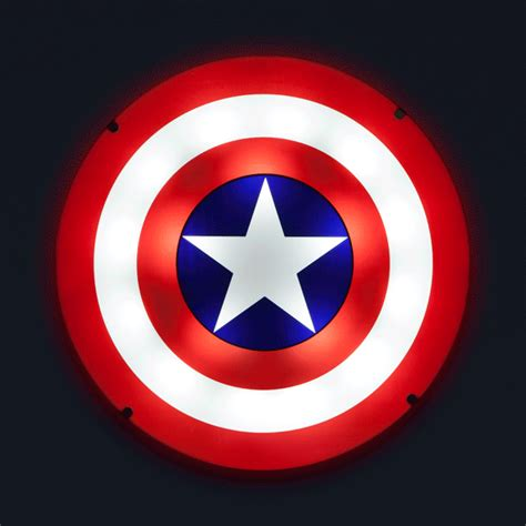 Kaos Anime Capt America Glow In The captain america shield light up wall with sound thinkgeek
