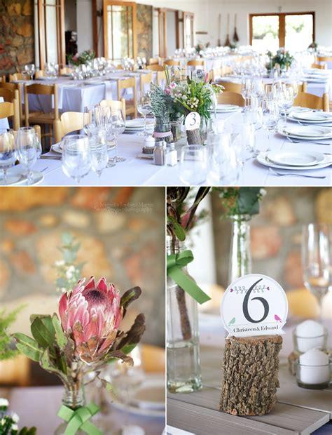 diy fynbos wedding decor image by cape town wedding