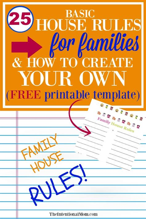 home design basic rules family house rules images diagram writing sle ideas