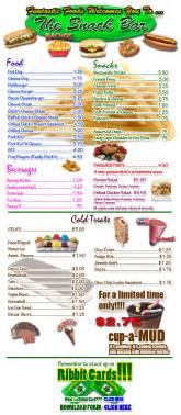 snack bar menu greenwood park bells lake