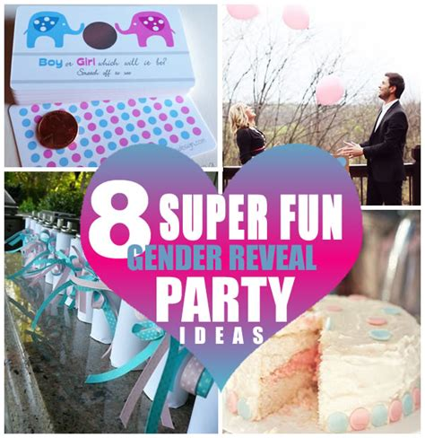 8 Super Fun Gender Reveal Party Ideas