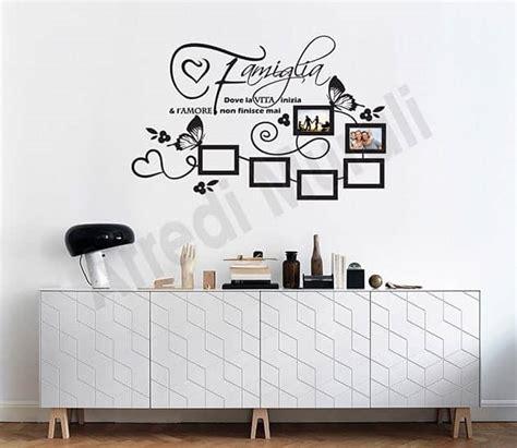 stickers cornici adesivi murali frase famiglia cornici foto arredi murali