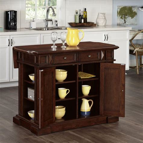 cherry wood kitchen island americana 48 in w wood kitchen island in cherry 5005 944