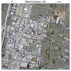 aerial photography map of west compton ca california