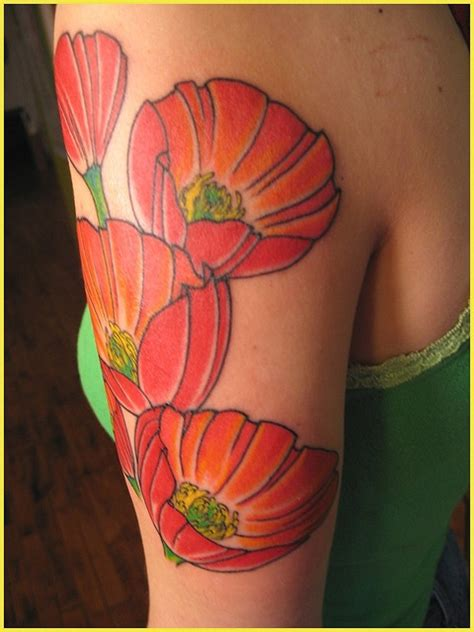 california poppy tattoo designs poppies i m not big for tattoos but the color is neat