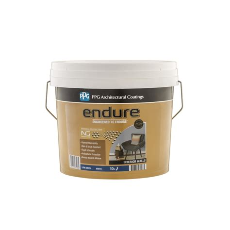 One Coat Ceiling Paint by Ppg 10l White Endure One Coat Ceiling Paint Bunnings