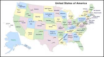 united state map and capitals map of united states of america with states and capitals