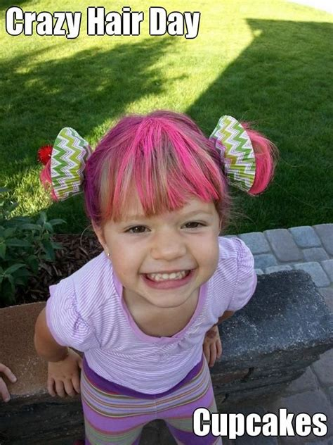 perfect for vbs crazy hair day for hadley bear someday crazy hair day cupcakes i used real cupcake lines and cut