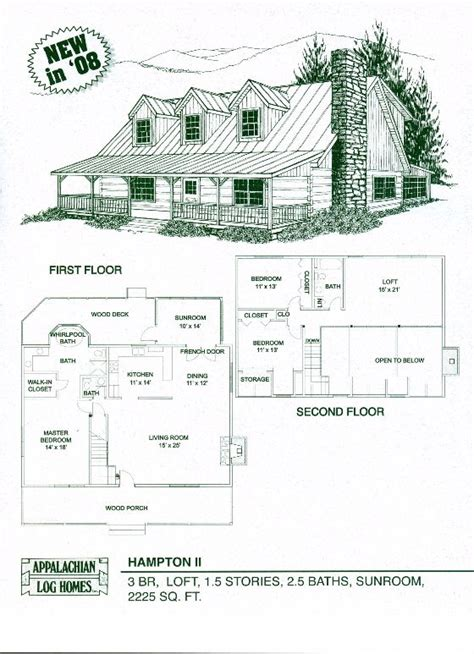 dakota hybrid timber and log home floor plan hton ii log cabin appalachian log timber homes