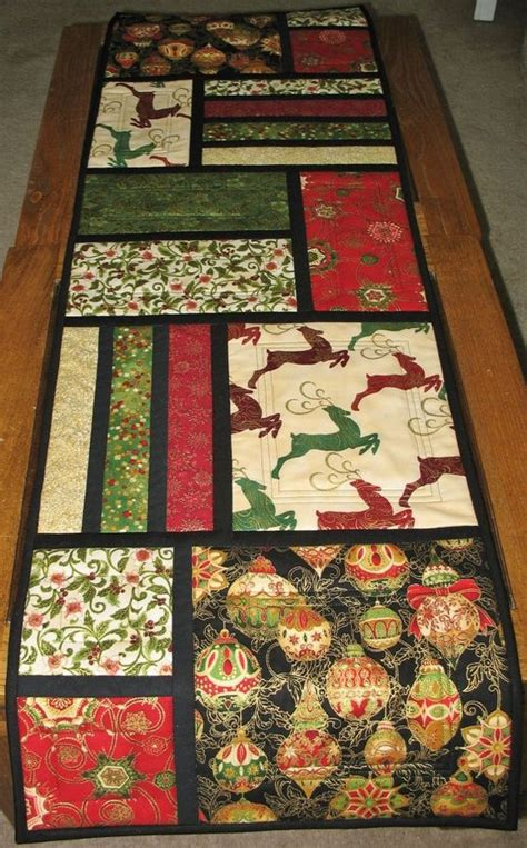 Easy Table Runner Neneng Quilt Projects - table runner quilted from kaufman flourish line