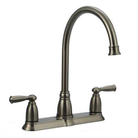 moen 87553 banbury high arc kitchen sink faucet with side moen banbury 2 handle high arc side sprayer kitchen faucet