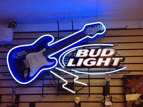 bud light for sale bud light neon sign w guitar for sale 732 228 7089