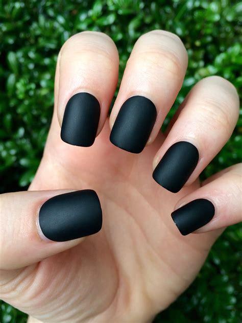 Matte Nail black matte nails matte nails black matte nails