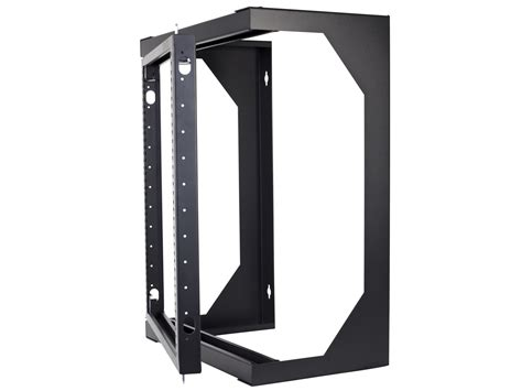 swing out wall mount rack networx 9u open frame swing out wall mount rack 201