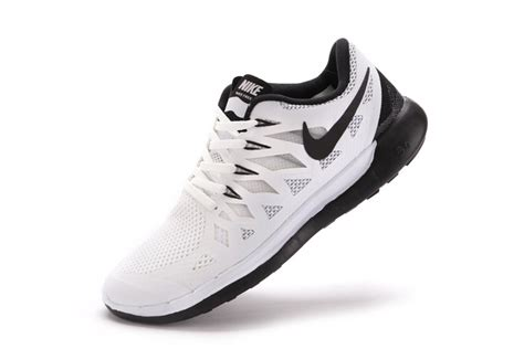 nike free 5 0 2014 mens running shoes white black shoes