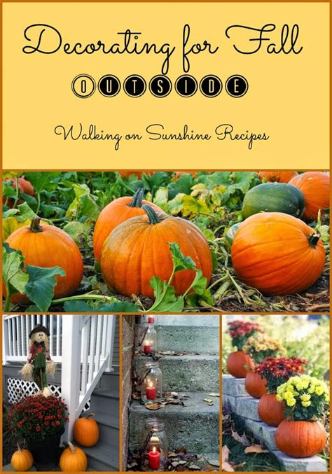 September Decorations by Decorating For Fall Outside Walking On