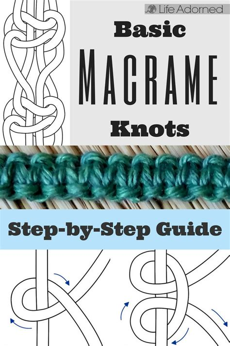 Step By Step Macrame - the 25 best macrame knots ideas on macrame