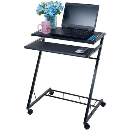 mobile rolling cart compact computer desk walmart