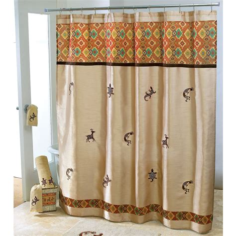 Southwest Kitchen Curtains Shower Curtains Southwestern Style Home Decoration Club