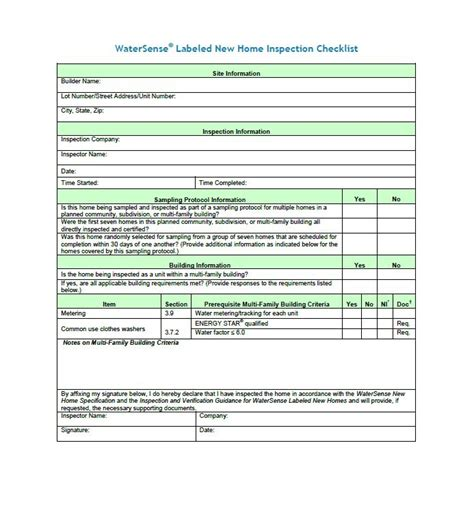 spreadsheet template home inspection template excel and printable