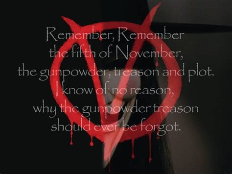 Remember The by The Fifth Of November V For Vendetta Quotes Remember