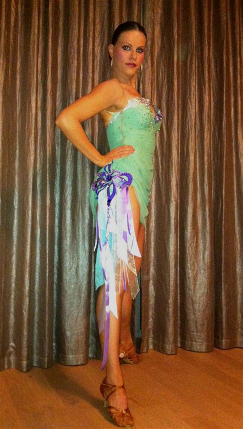 M254 Mint green Purple Latin Dance Costume for sale ... Gold Hematite Beads