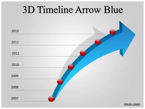 arrow powerpoint template 3d timeline arrow blue powerpoint template ppt 3d