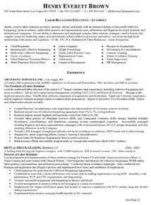 Relations Executive Sle Resume by Resume Sle 7 Attorney Resume Labor Relations Executive Career Resumes