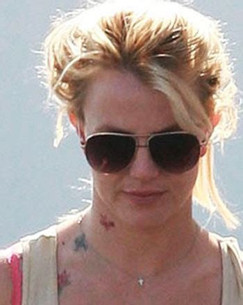 britney spears tattoo new neck design