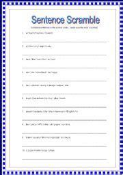 Scrambled Sentences Worksheets by Unscramble Sentences Worksheets 1st Grade Scrambled