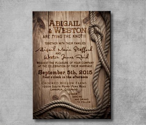 western wedding invitation templates  sample