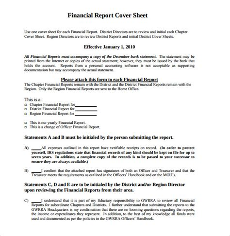 business report letter sle sle report cover page 7 documents in word pdf