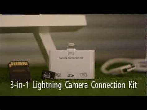 New Lightning Connection Kit 3 in 1 lightning connection kit enables photo