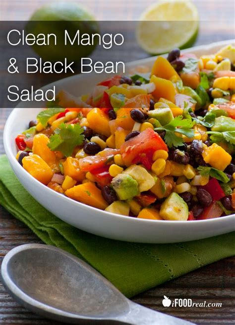 4 protein rich salads clean mango black bean salad recipe protein cilantro