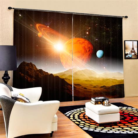 outer space curtains kids blackout outer space luxury 3d galaxy curtains for kids