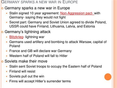 chapter 16 section 2 war in europe ppt hitler s lightning war powerpoint presentation id