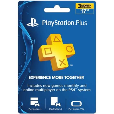 Playstation 3 Gift Cards - sony playstation plus 3 month 17 99 walmart com