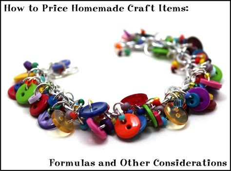 Handmade Jewelry Pricing Formula - how to price craft items formulas and other