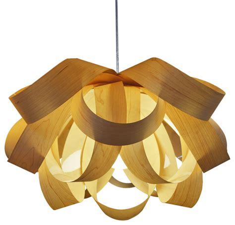 Veneer Pendant Light Wood Veneer Pendant L Contemporary Pendant Lighting By Oakl Deco Lighting