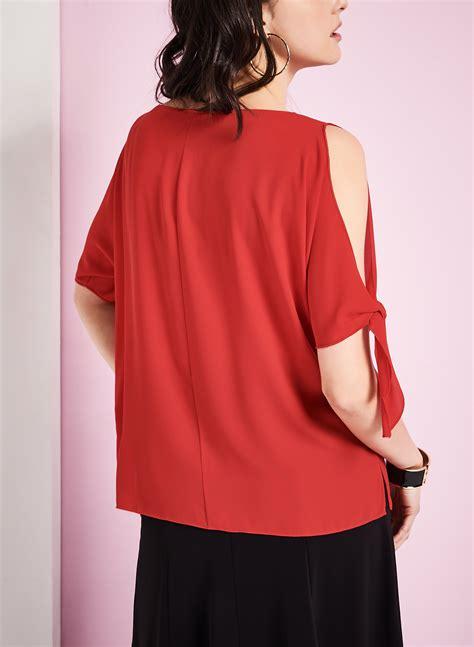 Sleeve Cutout Blouse 3 4 sleeve cutout blouse free shipping