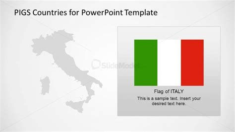 Italy Outline Map And Flag Slidemodel Italian Powerpoint Template